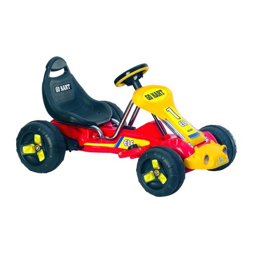 Lil' Rider Battery-Powered Red Racer Go-Kart, Red front-166338