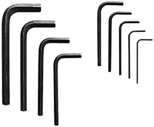 Allen 56015 Short Arm Metric Hex Key Set, 9-Piece