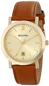Bulova Unisex 97B135 Analog Display Japanese Quartz Brown Watch