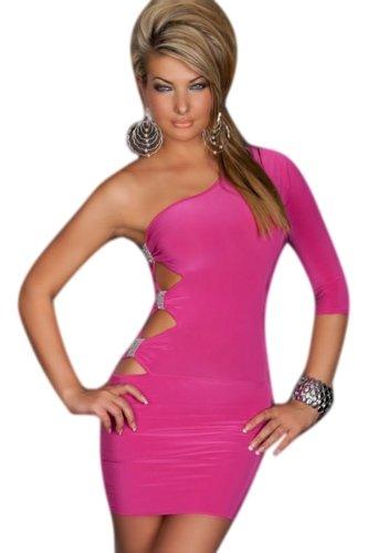 Saphira mode Gogo Sexy One Arm Kleid rosa Mini Club