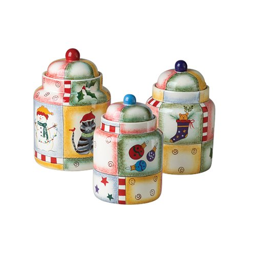 Pfaltzgraff Holiday Magic 3-Piece Sealed Canister Set