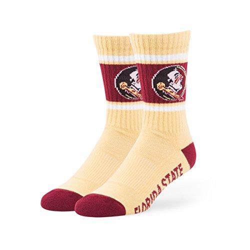 NCAA Florida State Seminoles '47 Duster Sport Socks, Light Gold, Large (Men's 9-13 / Women's 10-12), 1-Pack