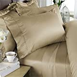 COT PRINTS 600 TC Extra Large 100% Premium Luxury Cotton 5 Pcs Set with Swiss Sateen Finishing (108 x 115 Inches)(Desert Beige)