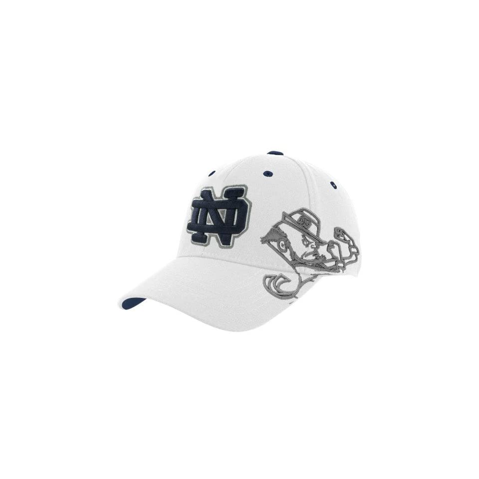 Top of the World Notre Dame Fighting Irish White Bootleg One Fit Hat