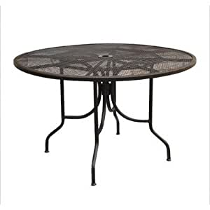 Caledonia Round Mesh Table Size 48 Patio