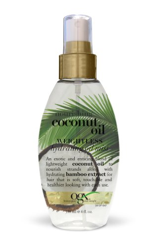 OGX Weightless Hydrating Oil Mist, Nourishing Coconut Oil , 4oz (Hair Oil For Dry Hair compare prices)