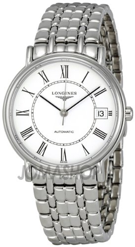 Longines White Dial Automatic Stainless Steel Bracelet Mens Watch L48214116
