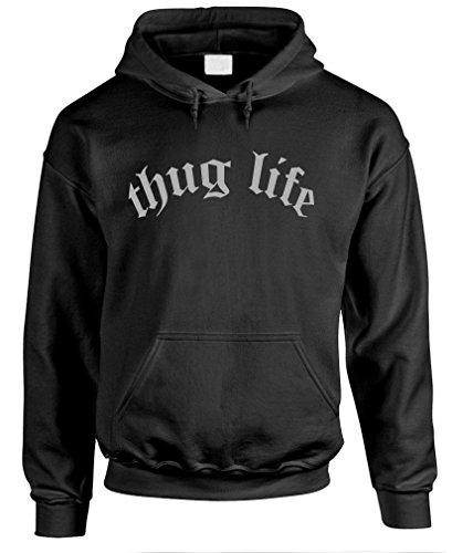 Thug Life - Hip Hop Rap Music Tupac 2Pac Pullover Hoodie, 2Xl, Black