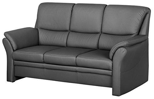 Cavadore-4342-Polstergarnituren-Klariza-3-Sitzer-2-Sitzer-Sessel-Leder-Punch-anthrazit-kombiniert-mit-Kunstleder-platin