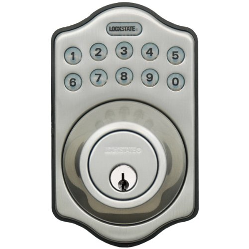 LockState LS-DB500-SN Electronic Keyless Deadbolt, Satin Nickel