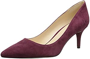 Nine West Women's Margot Suede Dress Pump,Wine,6 M US