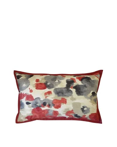 Water Color Throw Pillow, Red As You See