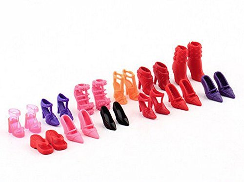 Fashion Dolls Shoes Heels Sandals Set For Barbie Doll Dress 10 Pairs