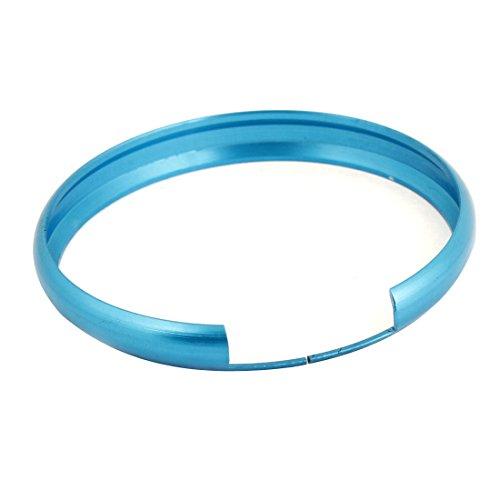 Blue Aluminium 45Mm Outside Diameter Split Key Rings For Mini Cooper