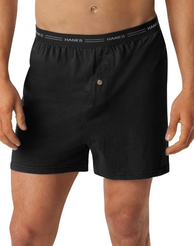 Hanes Men's Exposed Waistband Knit Boxer 2 Pack 548KP2, Asso