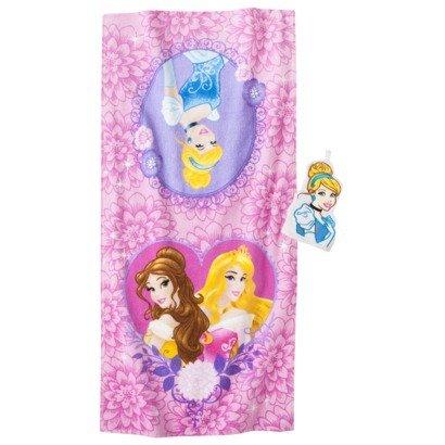 Disney® Princess Cinderella Bath Towel/Wash Mitt Set - Pink - 1