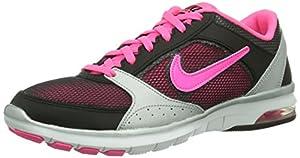 NIKE Air Max Fit, Damen Hallenschuhe, Pink (Black/Hyper Pink-Dark Grey-Metallic Silver), 38
