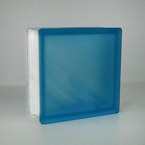 10-Stck-Vetra-Glassteine-Diagonal-Azur-2-seitig-satiniert-Milchglas-19x19x8-cm