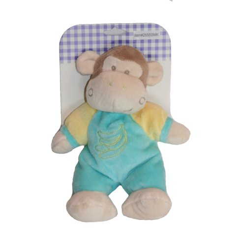8'' Plush Bell Rattle Stuffed Monkey - 1