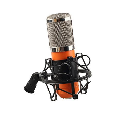 Foto4easy Orange Condenser Mic Microphone+shock mount bracket+XLR cable+Windscreen sponge (Condenser Microphone Orange compare prices)
