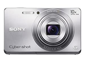 Sony Cyber-shot DSC-W690 16.1 MP Digital Camera with 10x Optical Zoom and 3.0-inch LCD (Silver) (2012 Model)