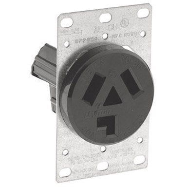 PASS & SEYMOUR 388 Single Surface Dryer Receptacle (3-wire)