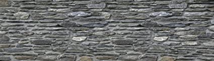 Kuchenruck-Wand Artland Kuchenspiegel Spritzschutz Hightech-Aluminium-Verbundplatten Lieb Schiefermauer in verschiedenen Größen und Farben erhältlich