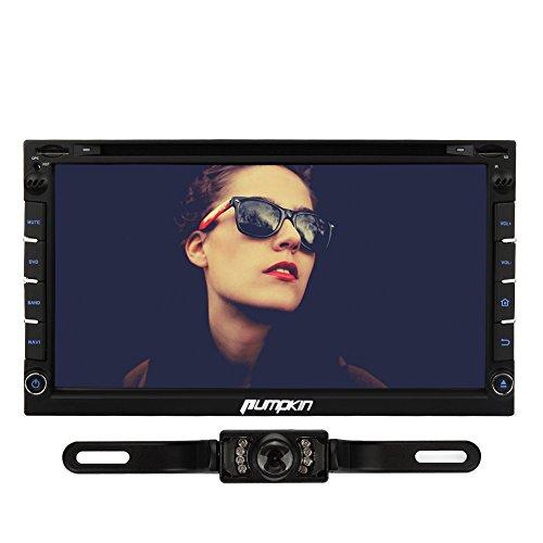 "Pumpkin 6.95"" 2 Din Android 4.4 Autoradio DVD Player GPS Navigation Unterstützt Bluetooth Ipod OBD2 Wifi Dashcam Universal mit Rückfahrkamera"