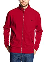 "THINK PINK Sudadera con Cierre Felpa Uomo""Think Pink""Cotone Slub Full Zip E Patch (Rojo)"