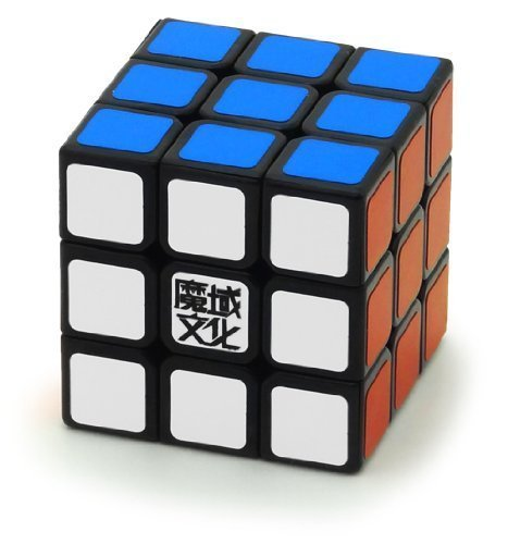 1 X 3x3x3 YJ Moyu Weilong Plus 57mm Black Version 2 Speed Cube Puzzle New V2 3x3 - 1