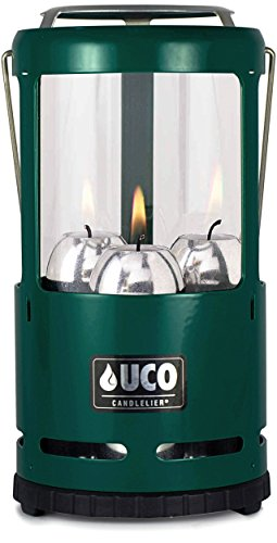 UCO Candlelier Deluxe Candle Lantern, Green (Uco Chimney compare prices)