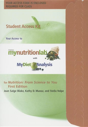 MyNutritionLab Student Access Code Card for Nutrition:...
