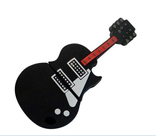 Autek Fashion Black Guitar Flash Drive Disk U Creative cartoon guitar U disk (32G) (2g Fancy Plugs compare prices)
