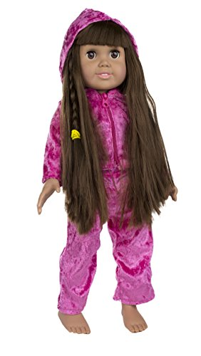 Fibre craft springfield collection pink velour sweat suit for Fibre craft 18 inch doll