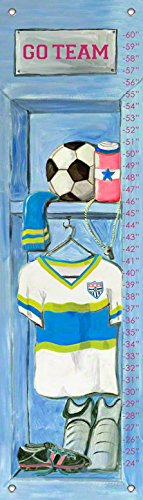 Oopsy Daisy Girl's Soccer Locker by Jones Segarra Growth Charts, 12 by 42-Inch