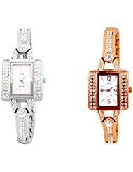 Watch Me MULTI Combo Set Of 2 Analogue Watches Gift For WOMEN WMAL-117S-117C