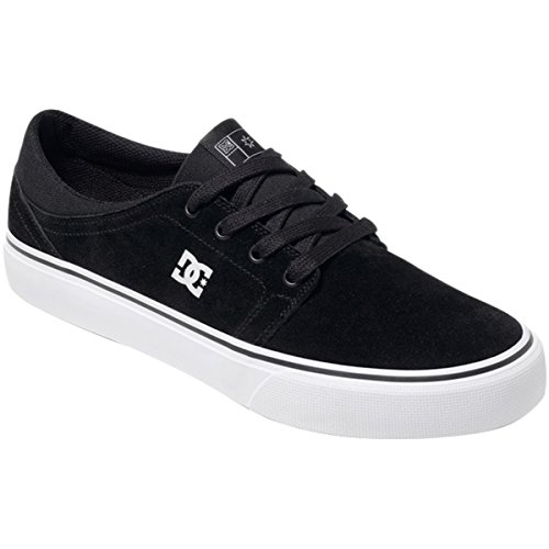 DC Mens Trase S Shoes, Black/White, 12D