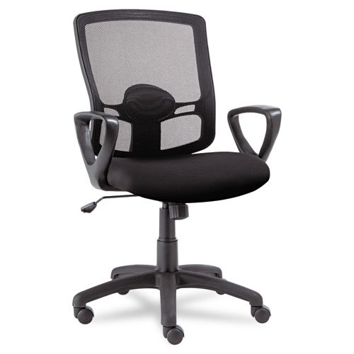 Alera Products - Alera - Etros Series Mesh Mid-Back Swivel/Tilt Chair, Black - Sold As 1 Each - Breathable mesh back with cushioned mesh fabric seat. - Adjustable lumbar support. - Five-star base with casters for easy mobility.