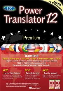 Popular Language Engineering Company Power Translator 12 Premium Lec Translate Selection Sm Box