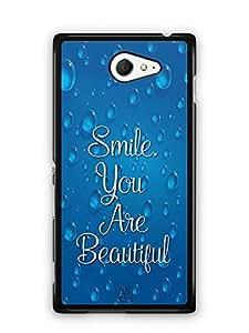 YuBingo Smile. You are Beautiful Designer Mobile Case Back Cover for Sony Xperia M2