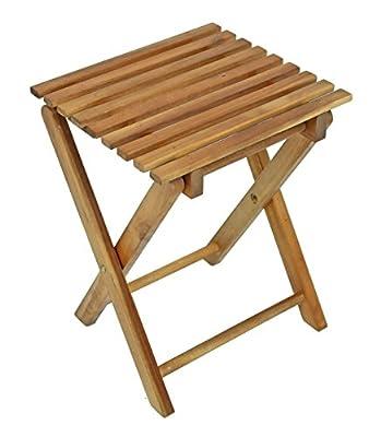 Klapphocker Holz Blumenhocker Hocker Eukalyptusholz von RoyalT auf Gartenmöbel von Du und Dein Garten