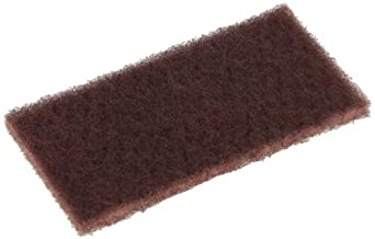 "Glit 27109 TN Industrial Maroon Pad, Synthetic Blend Resin, 6"" Length x 3"" Width (Case of 100)"