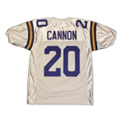 Autographed Billy Cannon Jersey - White Size XL - Autographed College Jerseys