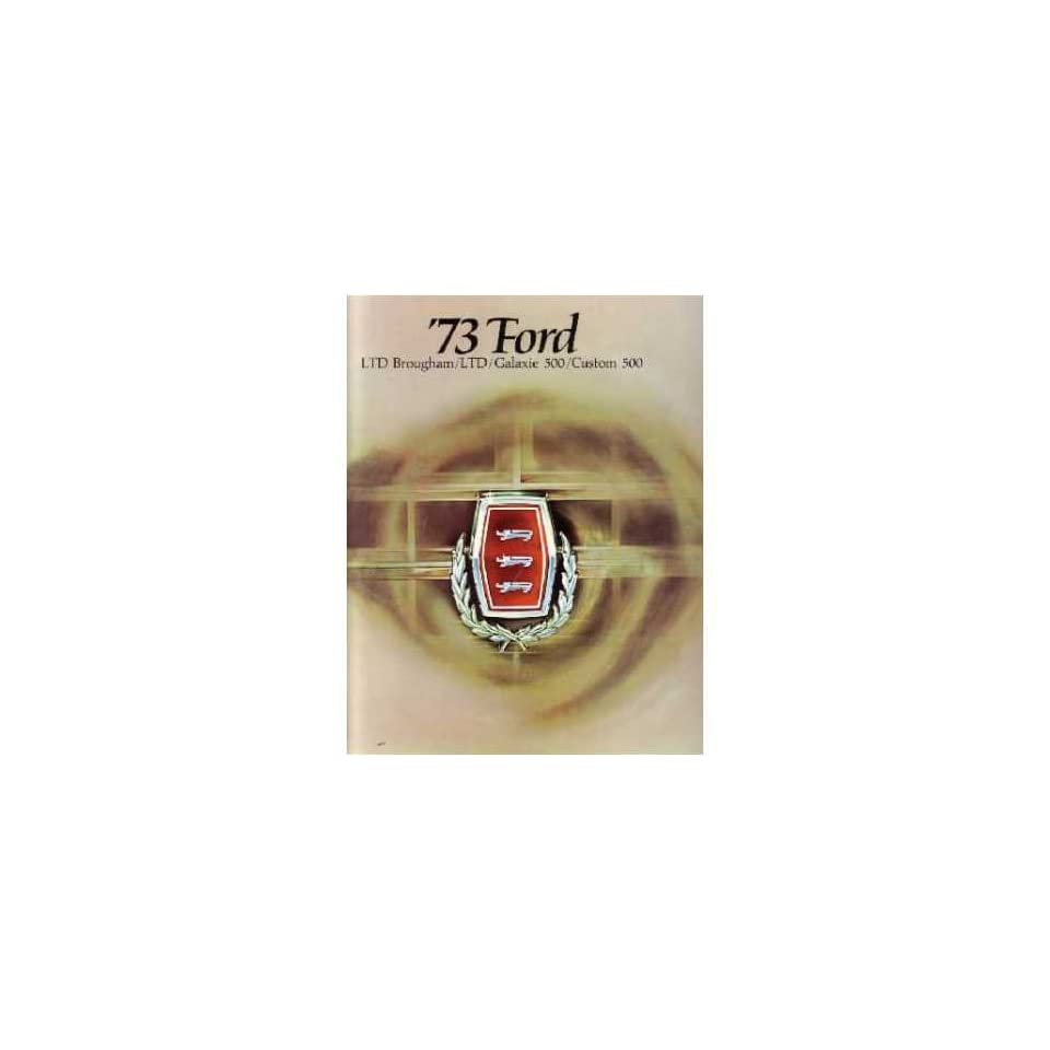 1973 FORD GALAXIE LTD Sales Brochure Literature Piece Advertisement Options