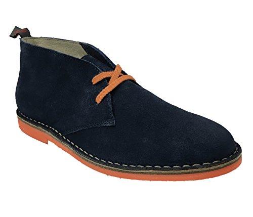 Wally WalkerChukka - Stivali Desert Boots uomo, Blu (Blu navy), 44 EU