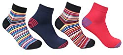 Bonjour Be Bold Neon Mens Pack of 4 pairs cotton socks by Bonjour_BRO1602-PO4