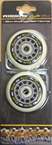 Razor Mini Ripstik RIPSTER DLX Replacement Wheel Set, Gray 68mm with ABEC-7 Bearings by RipStik