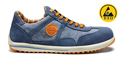 SCARPA ANTINFORTUNISTICA DIKE SERIE RAVING MOD. RACY S1P SRC PELLE COL. JEANS - 100% MADE IN ITALY - ART. 26016.804 - NR. 41