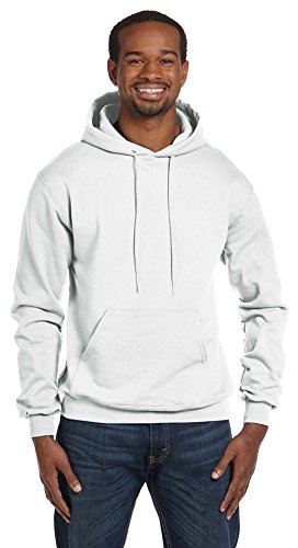 Champion Eco 9 oz. Pullover Hood, XL, WHITE