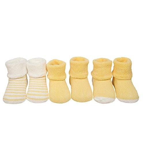 Bambini Calzini Clode® 3 Pair Bambino Tenere Calzini Caldi (Dimensione : S, Color : Giallo)